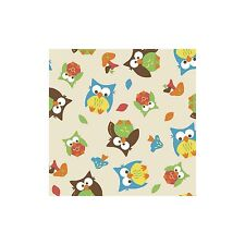 Springs Novelty Fabric Bright Allover Owls 47767 BTY Cotton Fabric FREE US SHIP