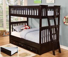 Discovery World Furniture Espresso Mission Bunk Bed Twin/Twin