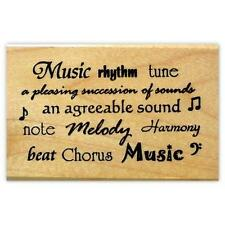 MUSIC WORDS mounted rubber stamp #10