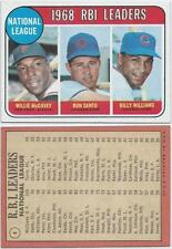 1969 Topps #4 1968 RBI Leaders Willie McCovey Ron Santo Billy Williams NM/Mint