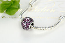 925 Sterling Silver Mickey Mouse Love Bead Fit Original Pandor@/chamilia Charm