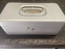 Vintage Metal Lit Ning Products Company Money Box With Coin Tray Made In Usa