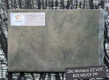 "Hand Dyed Cross Stitch 28c Monaco fabric 22""x29"" Exclusive"