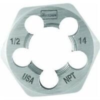 Irwin Tools 7005 Hexagon Taper Pipe Dies, 1/2 Inch - 14 NPT