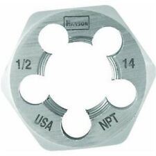 Irwin Tools 7005 Hexagon Taper Pipe Dies, 1/2 Inch - 14 NPT