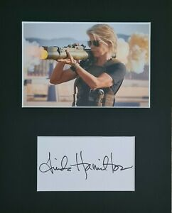 Linda Hamilton 'Terminator' hand signed in person by Linda, mounted autograph.