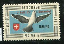 Switzerland Soldier Stamp Brieftaubendienst Carrier Pigeon #26/1 20