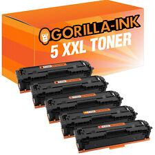 5 Toner XXL für HP Color LaserJet Pro MFP M 280 NW M 281 FDN M 281 FDW 203 A