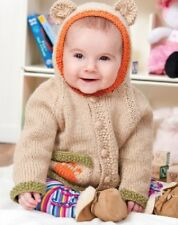 chTB038 Knitting Pattern Cutest Ever Baby Bear Hoody Size 6 to 24 months