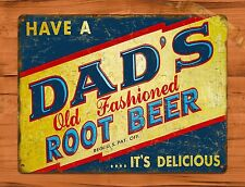TIN-UPS TIN Sign Dads Old Fashioned Root Beer Vintage Shop Soda Ad Garage Store
