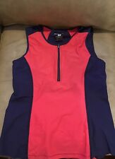 Navy Blue And Pink Moomotion Zip Tank $68 Size Medium Worn Once