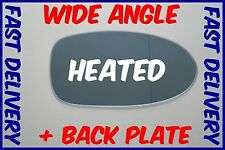 BMW 5 E39 M5 1997 - 2003 WING MIRROR GLASS BLUE HEATED WIDE ANGLE RIGHT + PLATE
