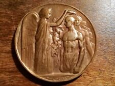Vintage 1924 Paris Summer Olympics Bronze Participation Medal by Raoul Bernard