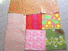 Vintage WRAPPING Paper Sheets Summer Spring Flowers retro lot RARE