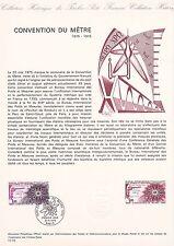 Document Philatélique Timbre 1er Jour : 31/05/ 1975 - Convention du mètre