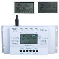 LCD 10/20/30/40A 12/24V MPPT Solar Panel Regulator Charge Controller 3 Timer #M