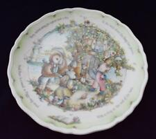 "1987 ROYAL DOULTON England OWL&PUSSY-CAT Coll Porcelain BONG TREE 8 1/2""d Plate"