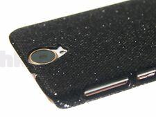 For HTC One E9+ (One E9 Plus) Phone Case Cover Black Shiny Sparkling Sequin