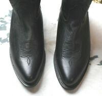 "Durango Womens Western Cowboy Boots 10 Black 42 12"" Tall"
