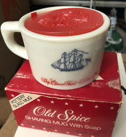 EUC Vintage Old Spice Shaving Mug Cup Ship Grand Turk Salem 1798 Shulton No Soap