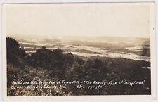 "RP; Top Of Town Hill, ""The Beauty Spot Of Maryland"", Allegany County, MD, 30-40s"