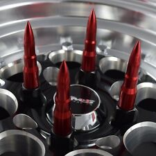 20x RED  BULLET RACING SPIKES 12X1.5 FORGED STEEL LUG NUTS FITS CORVETTE CAMARO