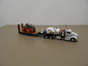 Herpa Promotex Truck Trailer and Asphalt Roller  HO Scale  1/87 Scale