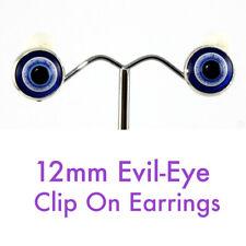 12mm Evil Eye Clip On Earrings  - *Free Post*