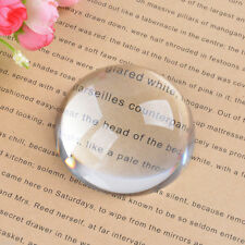 LS Big Magnifying Glass Paperweight Dome Magnifiers Semi Crystal Ball 40mm