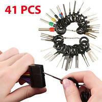 41PC Wire Terminal Removal Tool Car Electrical Wiring Crimp Connector Pin Kit US