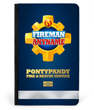 Personalised Fireman Sam Inspired Pontypandy Fire Rescue Service Passport Cover