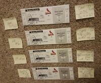 4 1998 FULL/UNUSED BOX Ticket Stub Lot HR 60,61,62,70 Mark McGwire StL Cardinals
