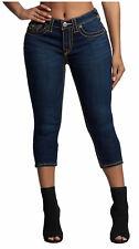 True Religion Women's Jennie Big T Skinny Stretch Crop Capri Jeans