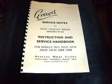 GREEVES SERVICE NOTES FOR 24TGS ANGLIAN & 20TA, 20S/TAS, 24S/TAS SERVICE H/BOOK