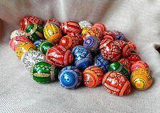"""5er Set Holz Ostereier handgemachte ukrainische Pysanky Pysanka Easter Eggs 1,8"""""""