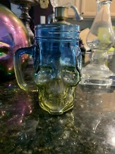 Skull Glass Mug With Handle