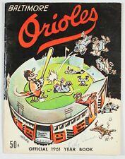 Baltimore Orioles Vintage 1961 Official Year Book Major League Baseball Signed