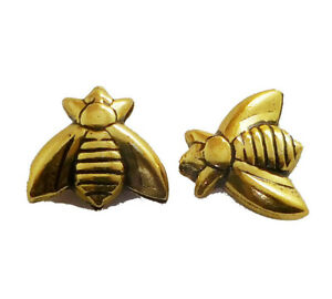 10 PCS 15X17X4MM BUTTERFLY BEAD OXIDIZED GOLD PLATED 925 GTL-565