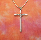Cross with Peace Dove Necklace, Charm Pendant Simple Christian Cross in Gift Box