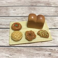 Sylvanian Families Kitchen Bakery Food Spares | Large Tray Bread & Pastries (c)