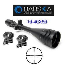 Barska Varmint Rifle Scope 10-40x50 AO w-H.D. Rings Sniper Optics AC11084