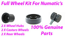 Numatic Henry HVR200 Full Wheel Kit 2 rear wheels, 2 front castors & 2 Wheel Hub
