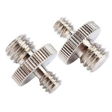 2pcs 1/4 inch Male To 3/8 inch Male Threaded Screw Adapter For Camera Tripod