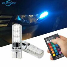 2pcs T10 5050 SMD RGB 6 LED Auto Car Wedge Side Light Lamp LED Demo Lamp Bulb
