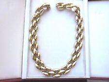 Vintage Goldplated Designer Necklace Wide Links