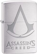 Zippo 29494, Assassin's Creed, Brushed Chrome Finish Lighter, Full Size
