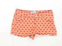 Womens Select Orange Denim Shorts Size 6/