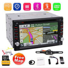 Backup Camera&Gps Double 2*Din Car Stereo Radio Cd Dvd Player Bluetooth with Map
