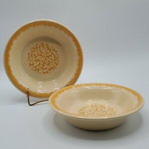 "Set of 2 Franciscan GINGERSNAP 7"" Cereal Soup Bowls NICE**"