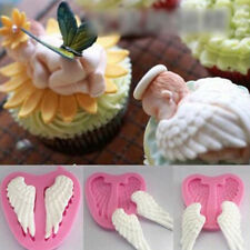 3D Angel Cherub Wing Fairy Baby Silicone Mould Sugar craft Cake Topper Chocolate